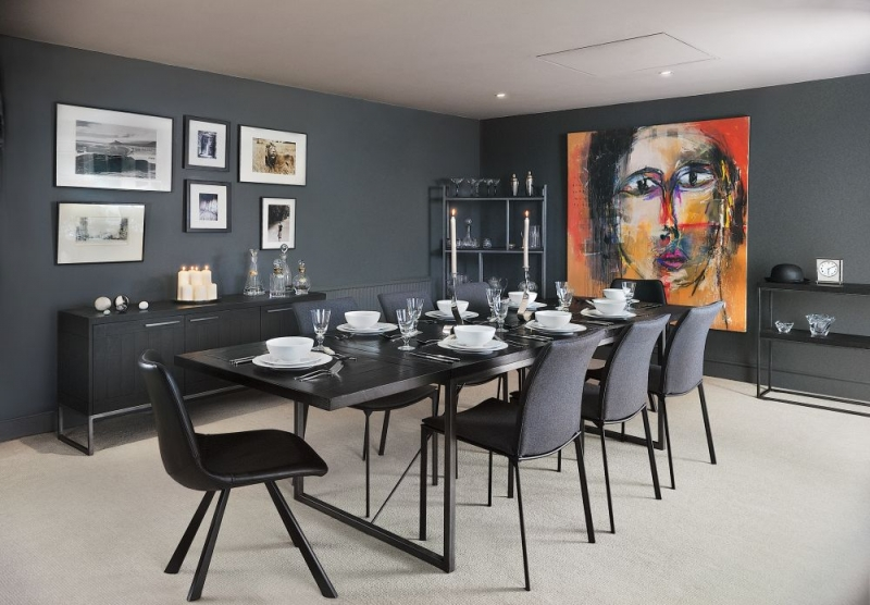 Picadilly Black 180cm Rectangular Dining Table