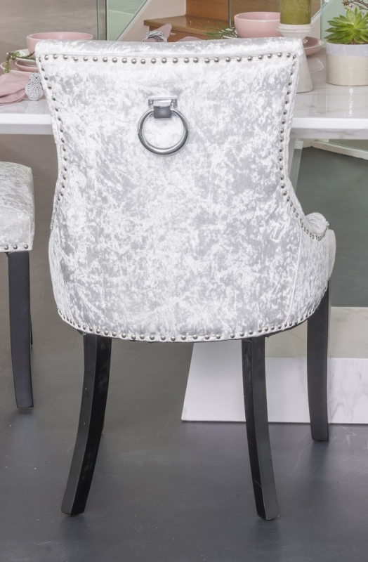 Mink Crushed Velvet Knockerback Dining Chair