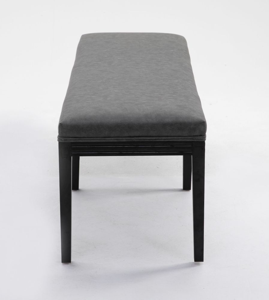 Loire Grey Leather Dining Bench