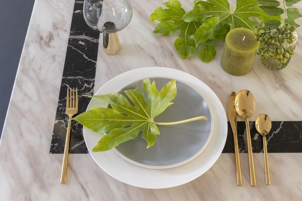 Urban Deco Rome Cream Marble 160cm Rectangular Dining Table