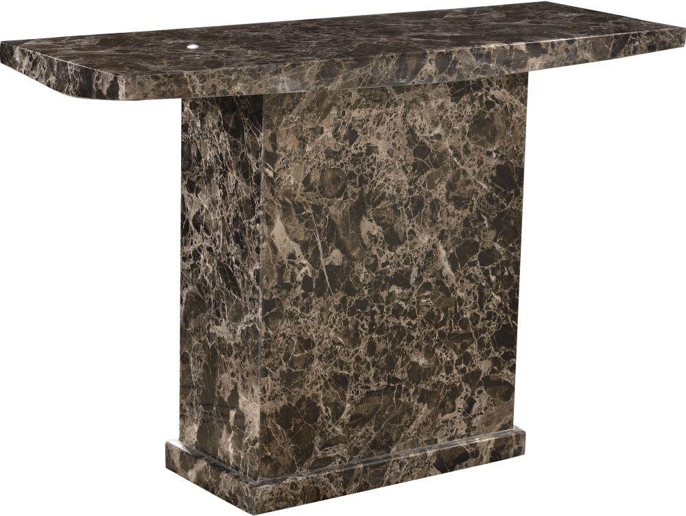 Urban Deco Turin Black Marble Console Table