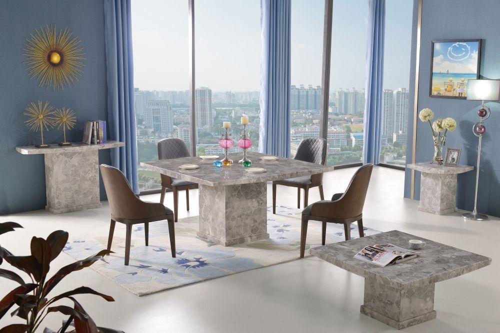 Urban Deco Turin Grey Marble Console Table