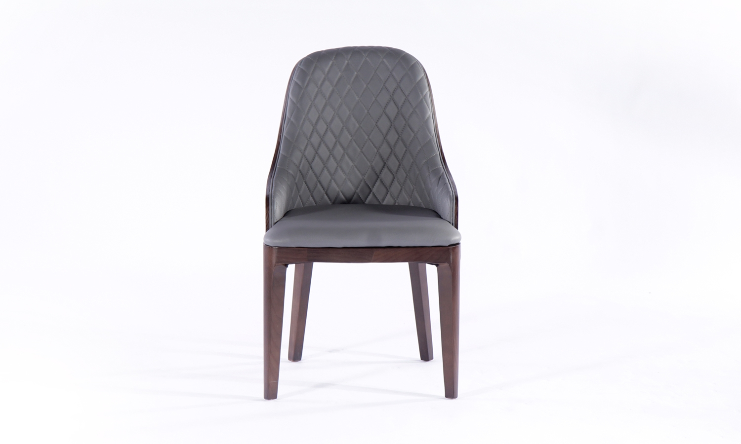 Urban Deco Madrid Grey Faux Leather Dining Chair (Pair)