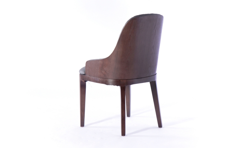 Urban Deco Madrid Grey Faux Leather Dining Chair