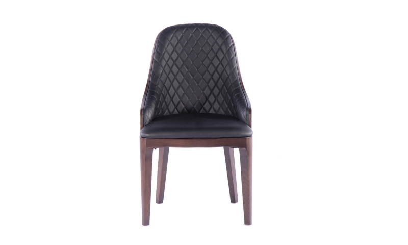 Urban Deco Madrid Black Faux Leather Dining Chair