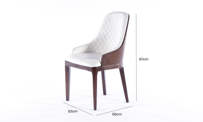 Urban Deco Madrid White Faux Leather Dining Chair