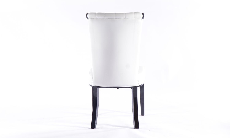 Urban Deco Cadiz White Faux Leather Dining Chair (Pair)