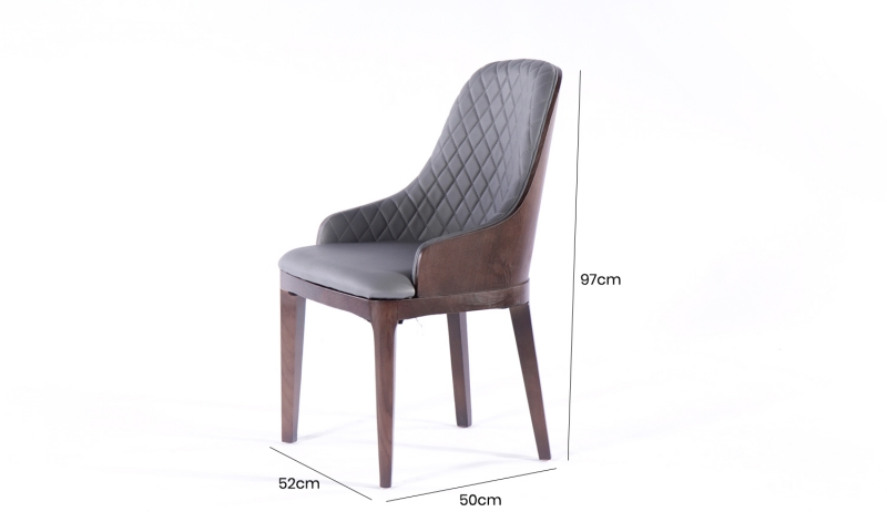 4 x Urban Deco Madrid Grey Faux Leather Dining Chair