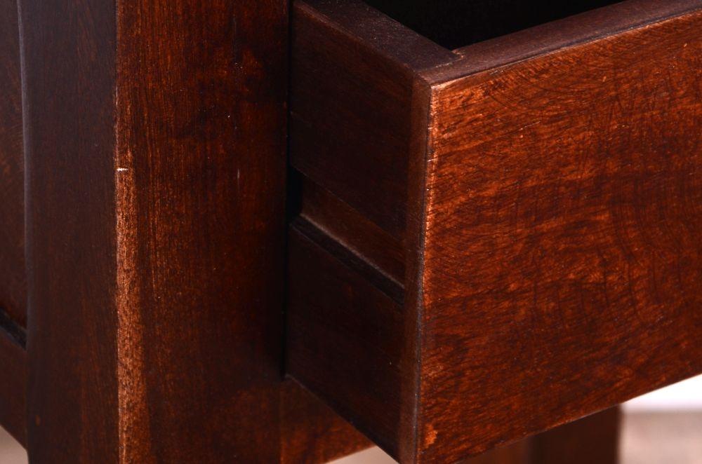 Urban Deco Dakota Dark Mango 1 Drawer Lamp Table