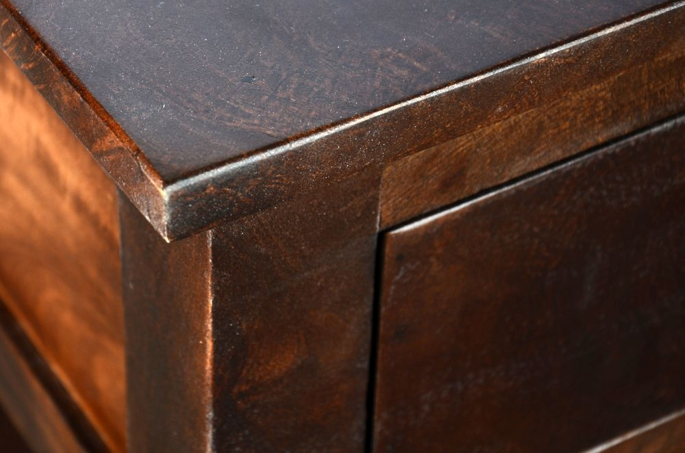 Urban Deco Dakota Dark Mango 2 Drawer Narrow Console Table