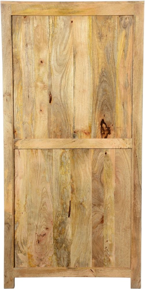 Urban Deco Dakota Light Mango 2 Door 2 Drawer Display Cabinet
