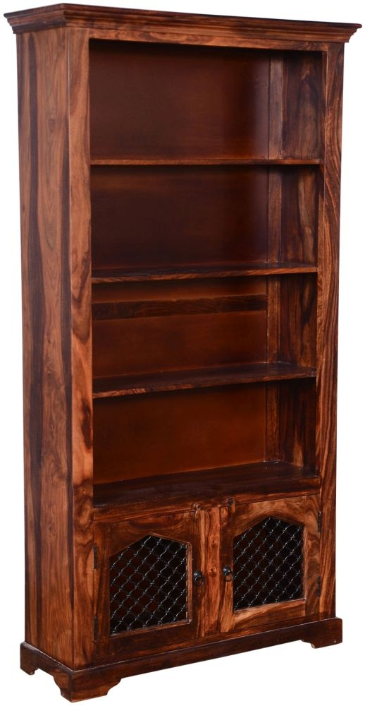 Urban Deco Ganga Sheesham Gothic Jali 2 Door Bookcase