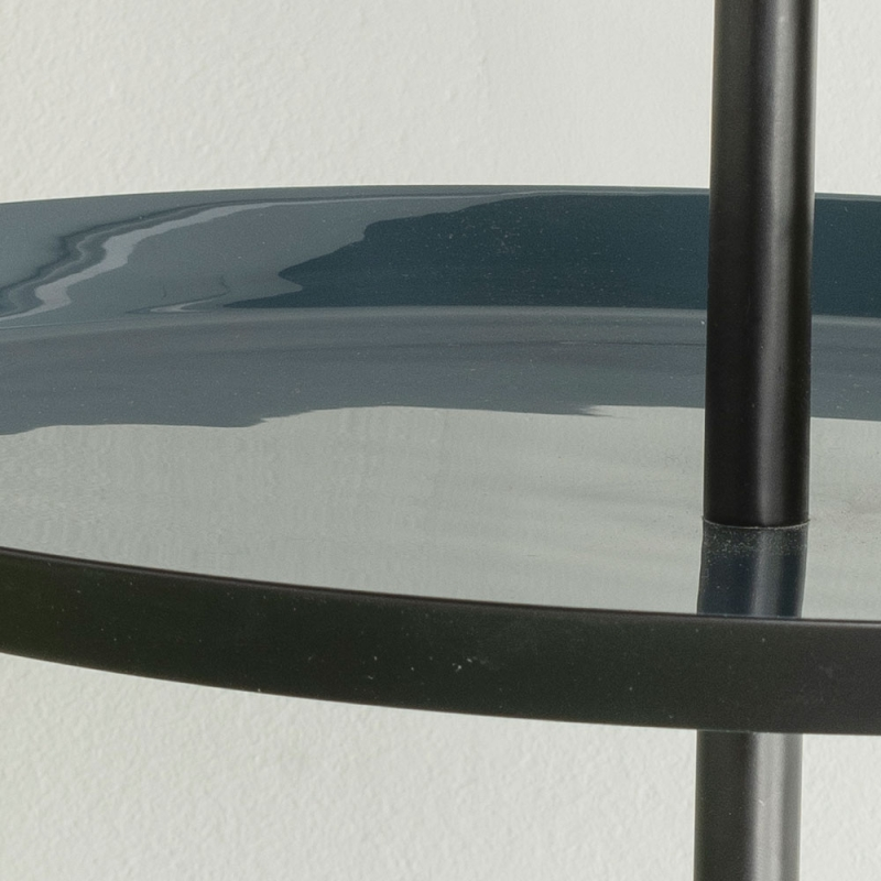 Urban Deco Elena Black Metal and Enamel Painted Iron Table