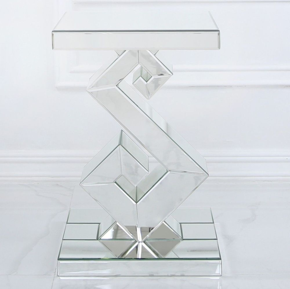 Carlisle Mirrored Lamp Table