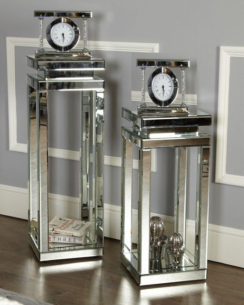 Fluker Mirrored Medium Pillar Lamp Table