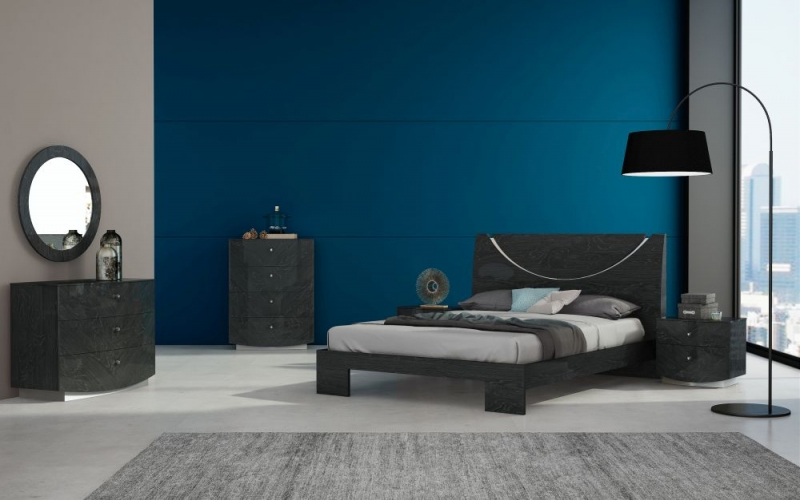 Ada Bed - Slate High Gloss