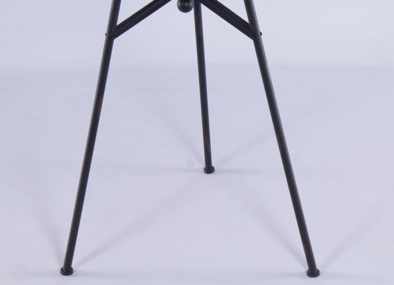 Urban Deco Decorative Black Metal Tripod Clock