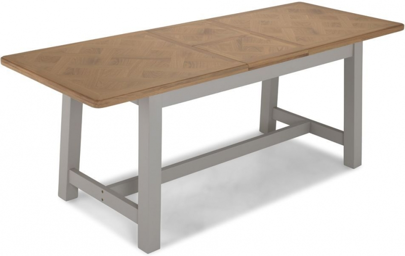 Sorrento Grey Painted Rectangular Extending Dining Table