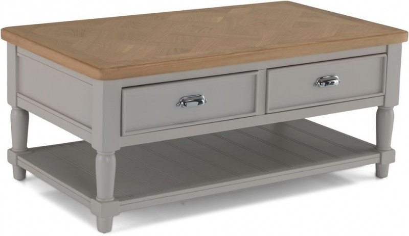 Sorrento Grey Painted Storage Coffee Table