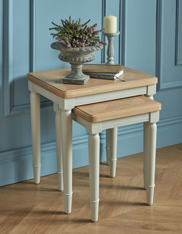 Sorrento Grey Painted Nest of 2 Tables