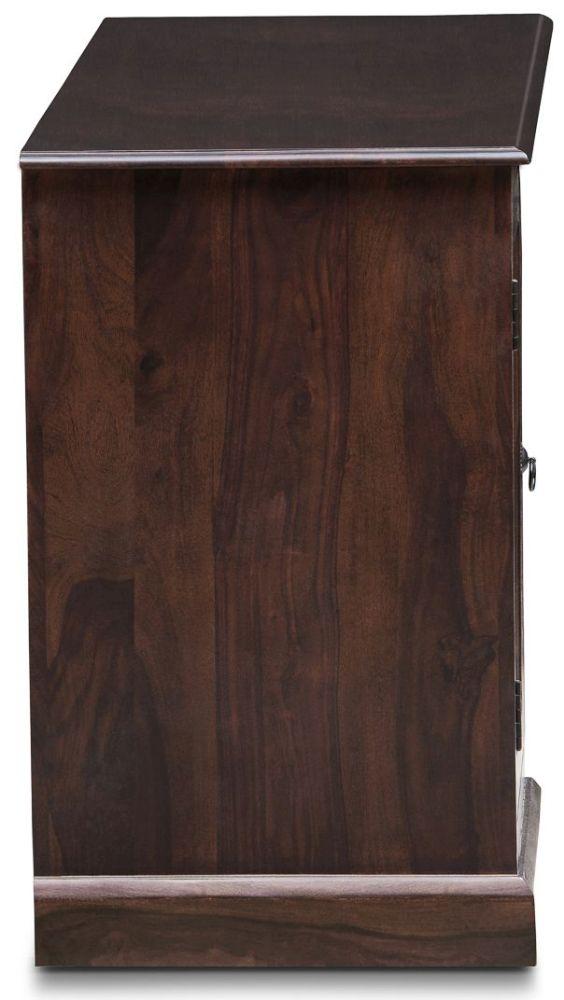 Wood Jali Sheesham Single Pedestal Desk