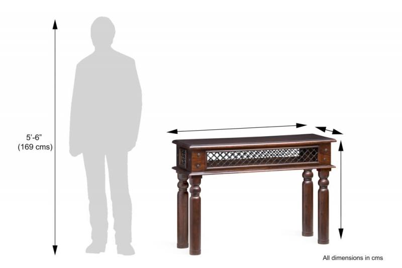 Iron Jali Sheesham Console Table