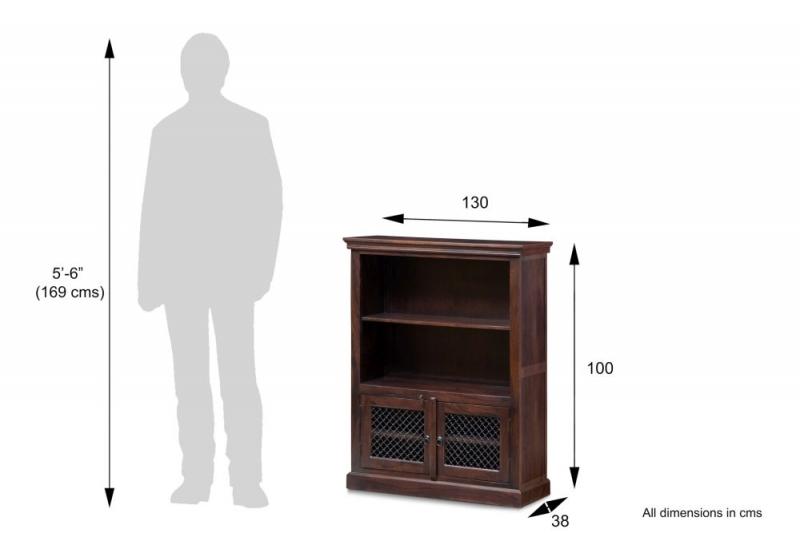 Iron Jali Sheesham Medium Bookcase