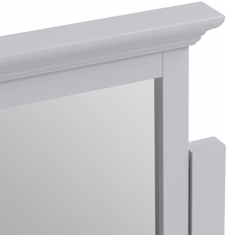 Ashby Dressing Table Mirror - Moonlight Grey Painted