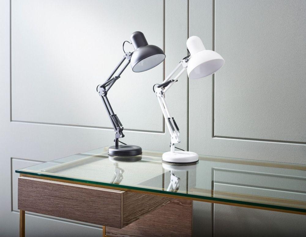 Stansted Black Matt Adjustable Table Lamp