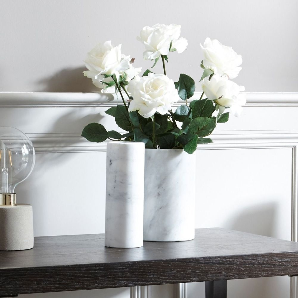 Honiton White Marble Small Vase