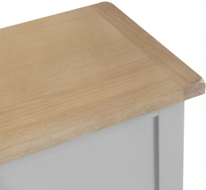 Hampstead Oak and Grey Painted Blanket Box