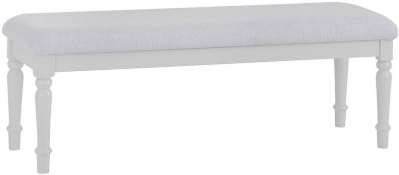 Annecy Soft Grey Painted Bedroom Bench