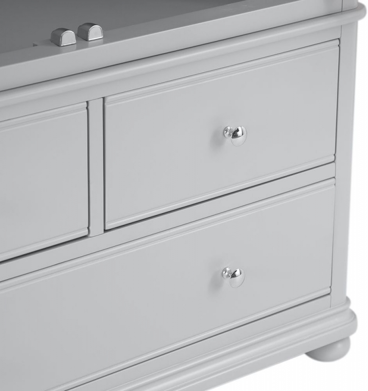 Annecy Oak and Soft Grey Painted 2 Door 3 Drawer Wardrobe