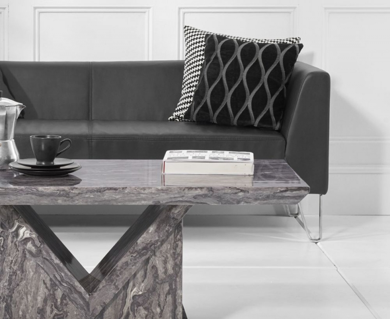 Livigno Marble Coffee Table - Grey