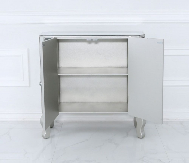 Selma Mirrored and Silver Sideboard