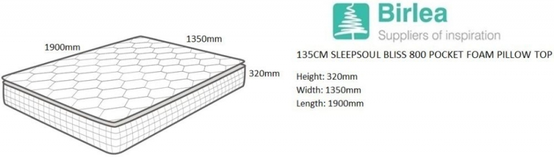 Clara Bliss 800 Pocket Springs Mattress