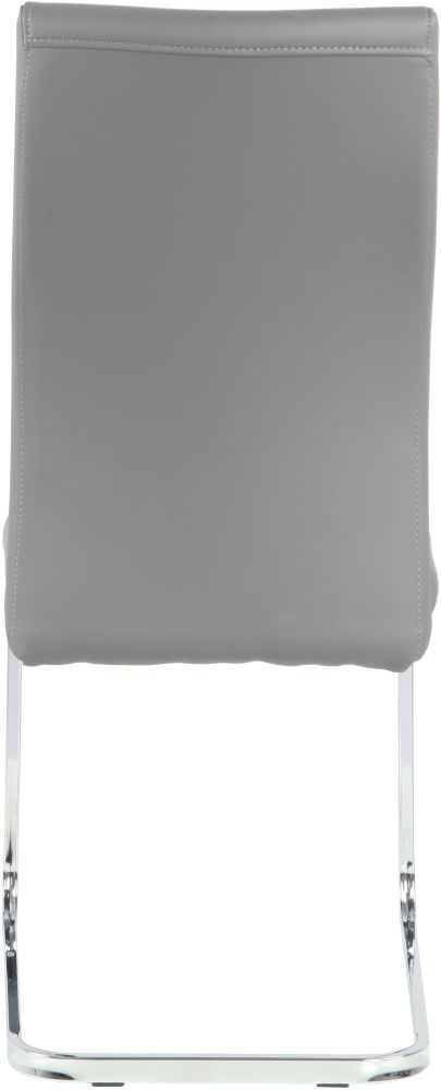Urban Deco Malibu Grey Faux Leather Swing Dining Chair (Pair)