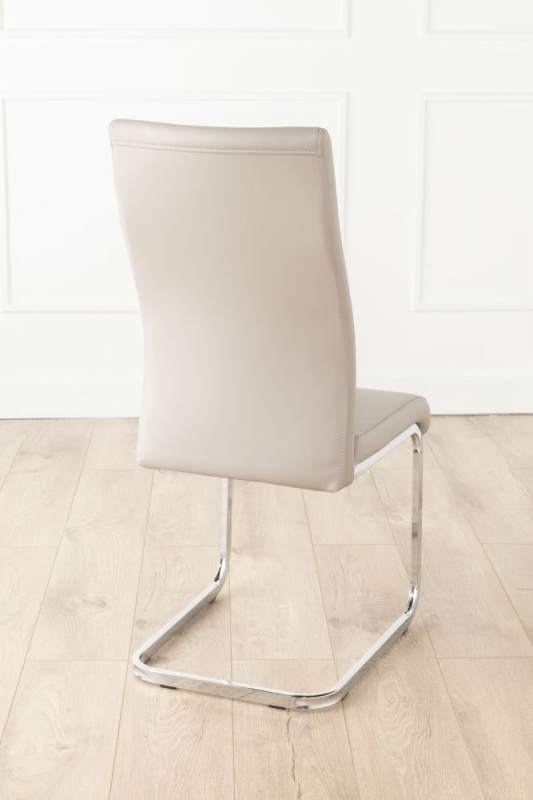 Urban Deco Malibu Taupe Faux Leather Swing Dining Chair