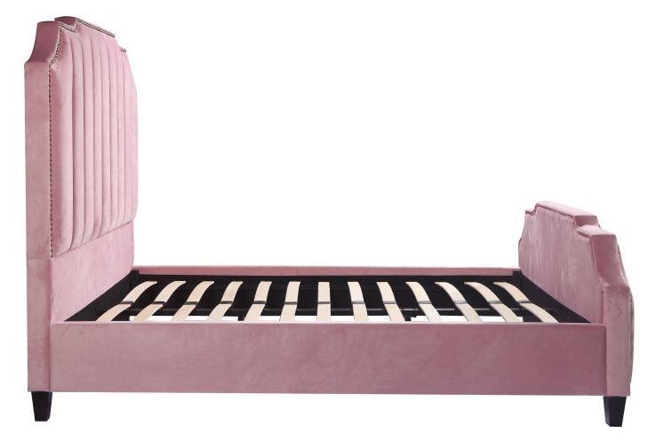 Urban Deco Charlotte Blush Pink Fabric Bed