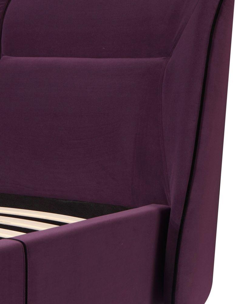 Urban Deco Simba Purple Velvet Bed