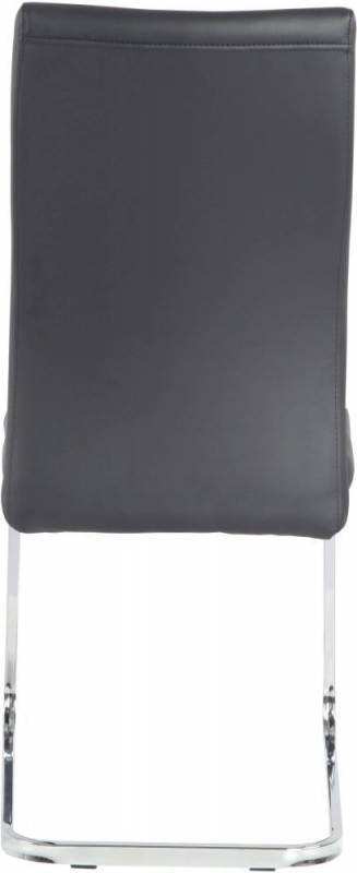 8 x Urban Deco Malibu Black Faux Leather Swing Dining Chair