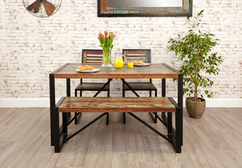 Baumhaus Urban Chic Small Dining Set With 2 Chairs And Bench