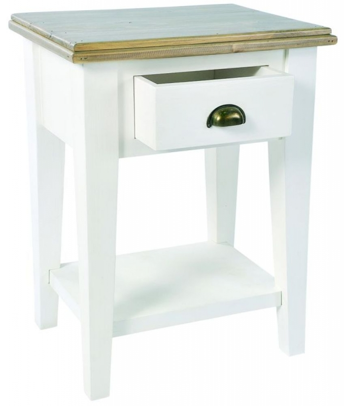 Ashmore Bedside Table - White