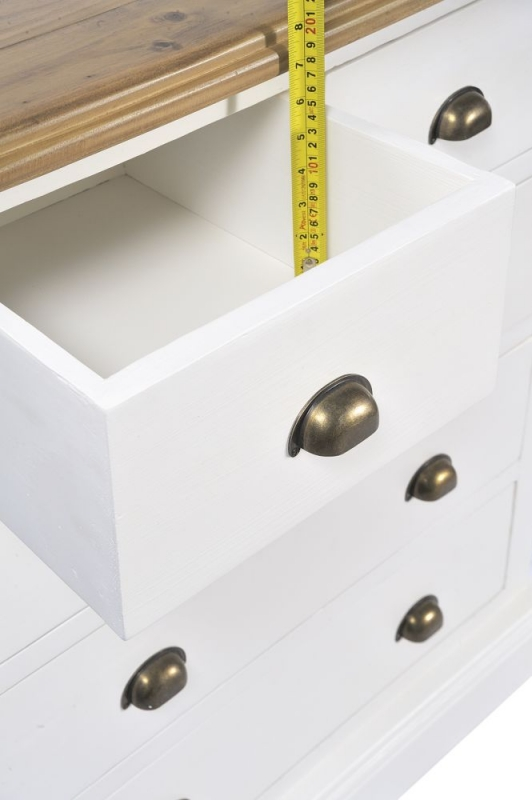 Ashmore 2+3 Drawer Chest - White