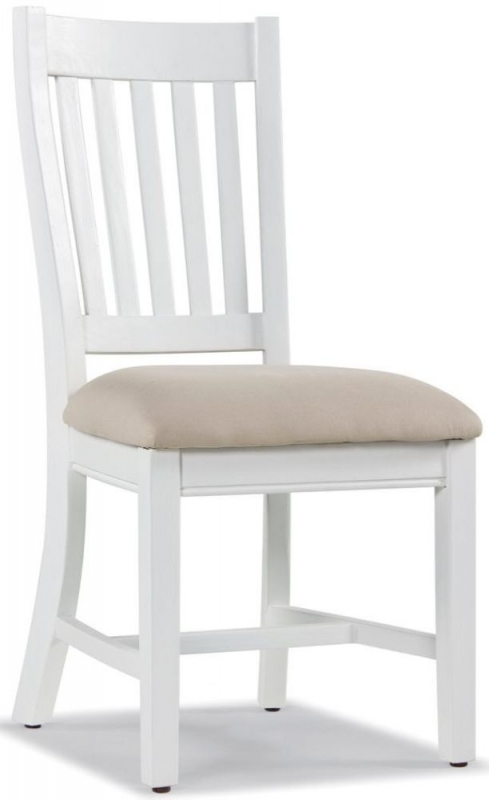 Ashmore Dining Table and 4 Slatted Chairs - White