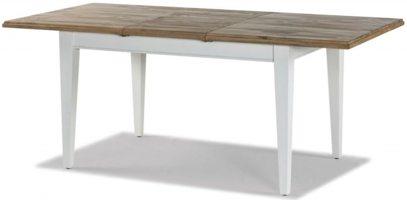Ashmore Extending Dining Table and 4 Slatted Chairs - White