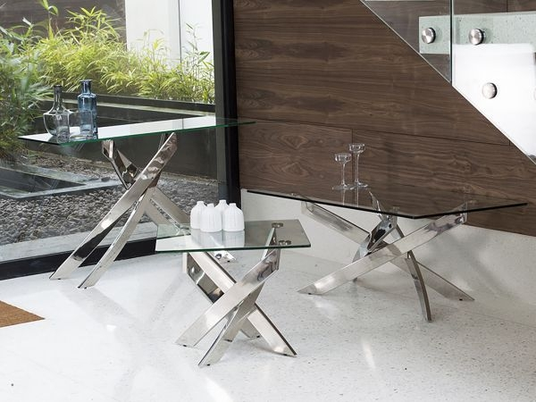 Baltimore Coffee Table - Glass and Chrome