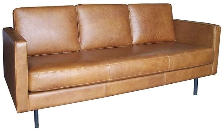 Ethnicraft N501 Old Saddle 3 Seater Leather Sofa
