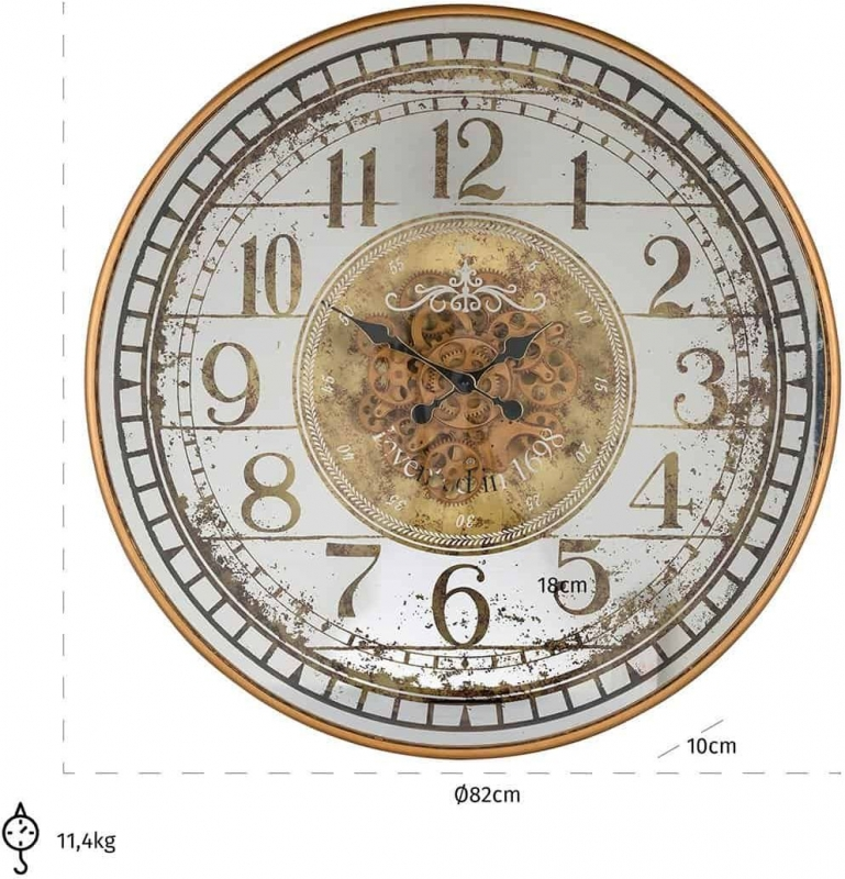 Cloud Silver and Gold Round Clock
