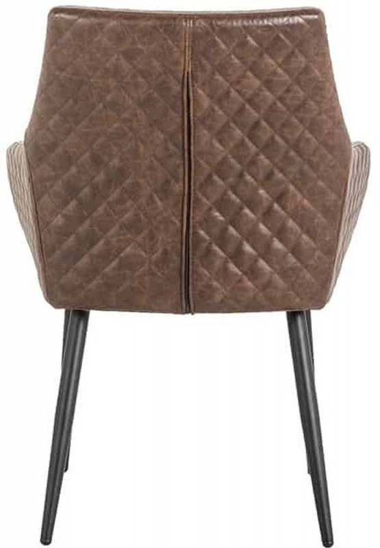 Brussels Faux Leather Dining Chair (Pair)